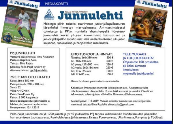 Mediakortti Junnulehti syksy 2019