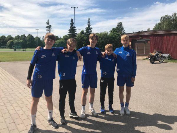 PPJ-pelaajia P14-ikäluokan Huuhkajaturnauksessa Eerikkilässä 13.-16.6.